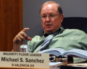 Senate Majority Leader Michael Sanchez (Photo by Heath Haussamen)