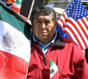 This photo was taken at an immigration reform rally in Washington, D.C.