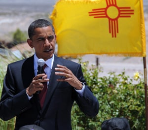 President Barack Obama, shown here campaigning in Las Cruces in 2008.