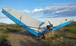 An ultralight aircraft that crashed in the New Mexico bootheel.