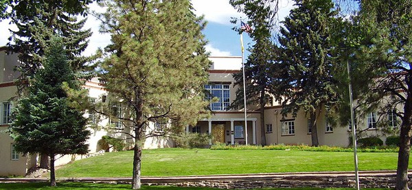 The N.M. Supreme Court building in Santa Fe