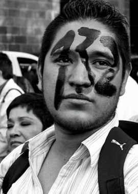 A member of the &quot;Yo Soy 132&quot; movement, shown during a demonstration in Mexico City on May 23.