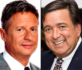 Former Govs. Gary Johnson, left, and Bill Richardson